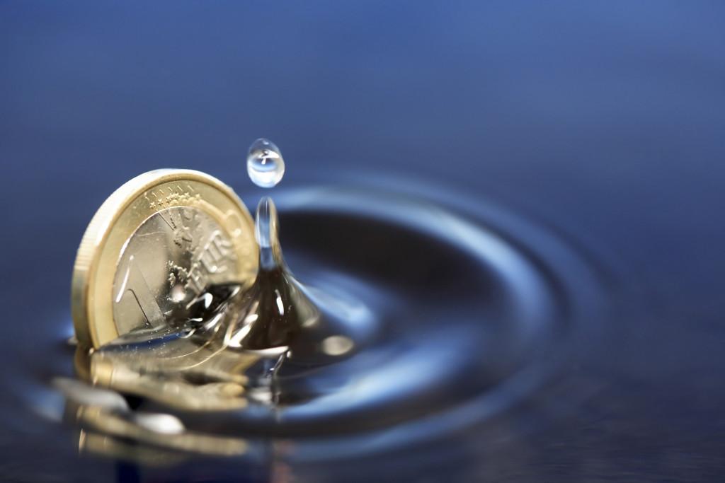 Sinking Euro Coin